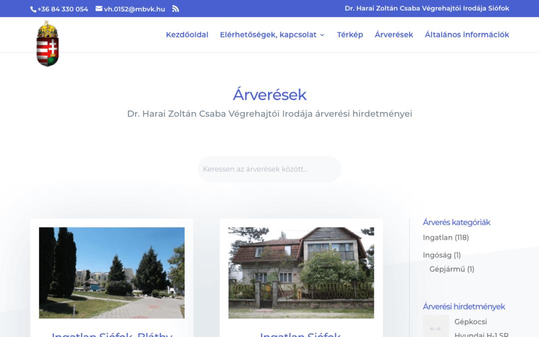 Végrehajtó irodák weboldalai
